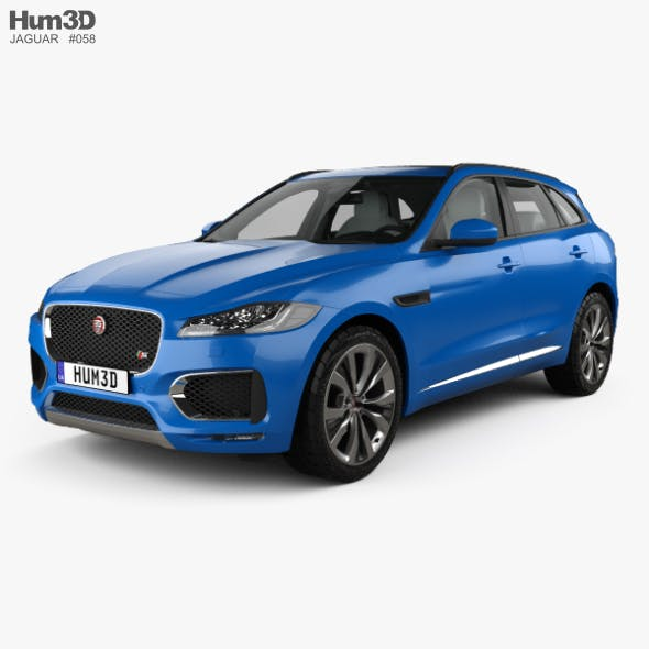 Jaguar F-Pace S with HQ interior 2017 - 3DOcean Item for Sale
