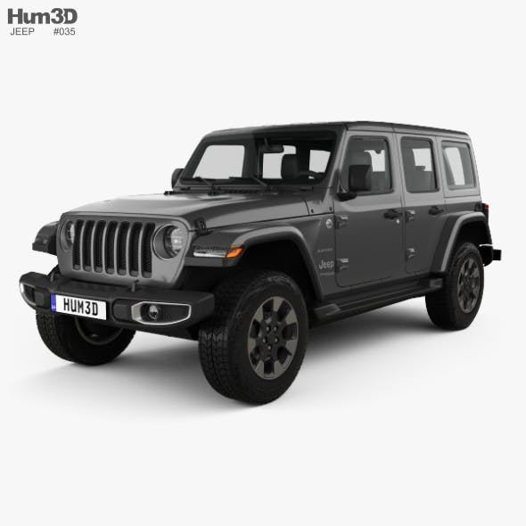 Jeep Wrangler Unlimited Sahara 2018 - 3DOcean Item for Sale