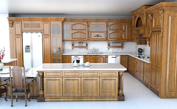 Classic kitchen - 3DOcean Item for Sale