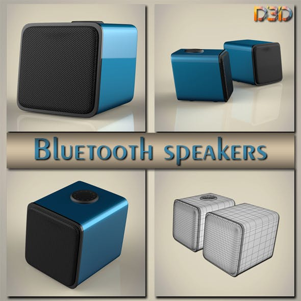 Bluetooth speakers - 3DOcean Item for Sale