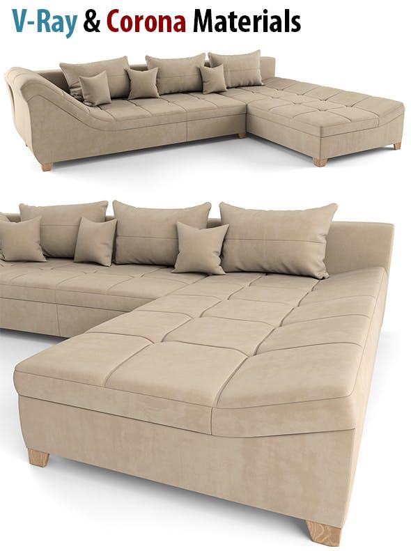 Modern Sofa, High Poly Sofa - 3DOcean Item for Sale