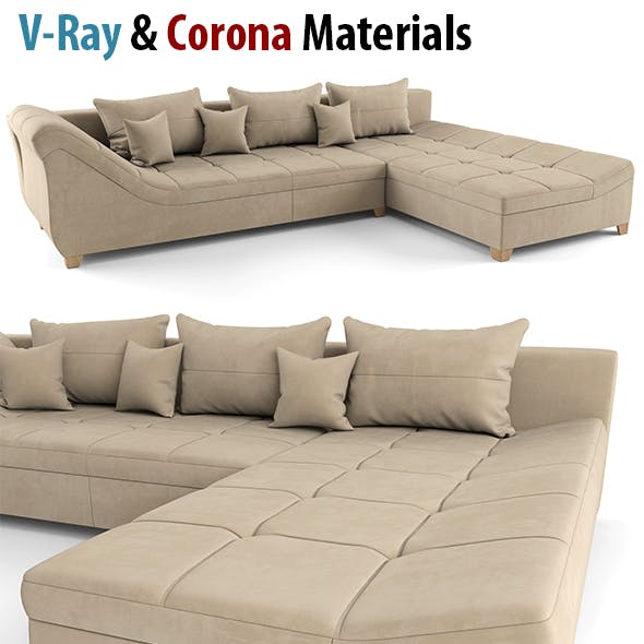 Modern Sofa, High Poly Sofa