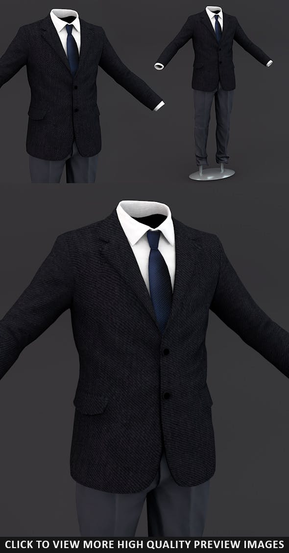 Men suit 8 - 3DOcean Item for Sale