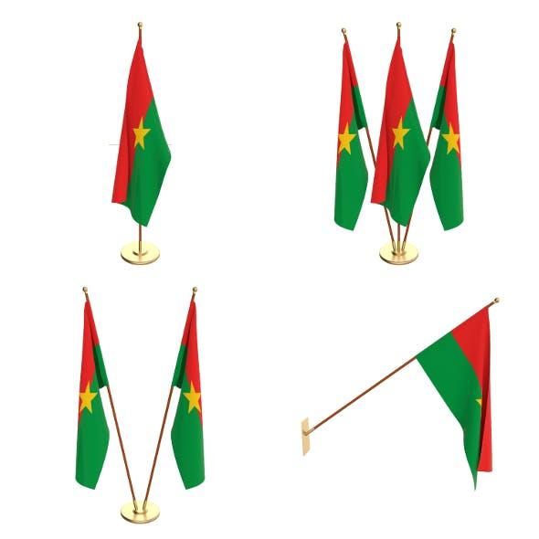 Burkina Faso Flag Pack - 3DOcean Item for Sale