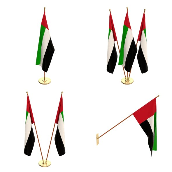 United Arab Emirates Flag Pack - 3DOcean Item for Sale
