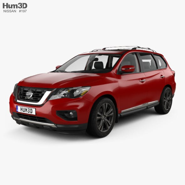 Nissan Pathfinder with HQ interior 2017 - 3DOcean Item for Sale