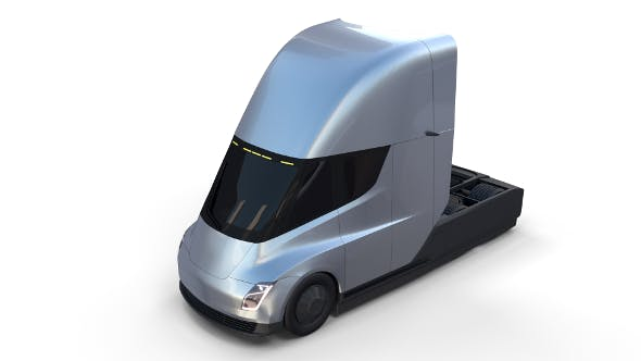 Tesla Truck Silver - 3DOcean Item for Sale