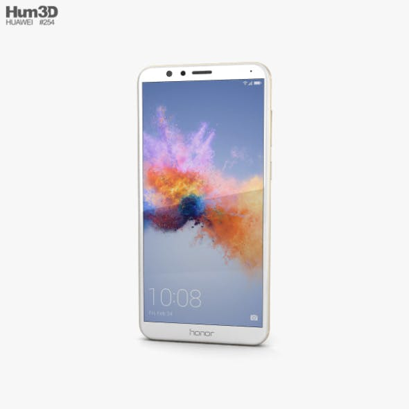 Huawei Honor 7X Gold - 3DOcean Item for Sale