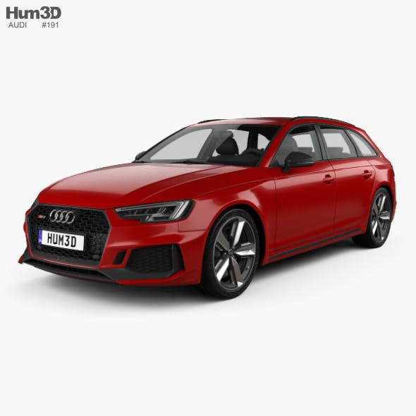 Audi RS4 Avant 2018 - 3DOcean Item for Sale