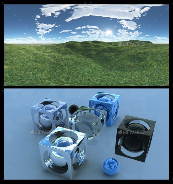 Open Grass Field 9 - HDRI - 3DOcean Item for Sale