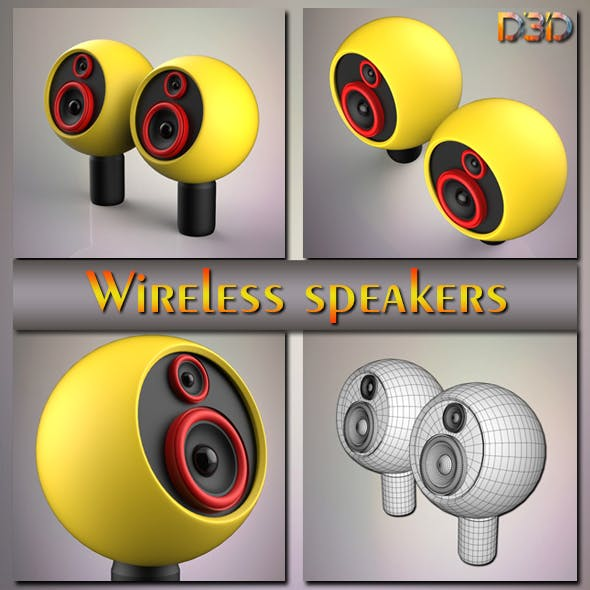 Wireless speakers - 3DOcean Item for Sale