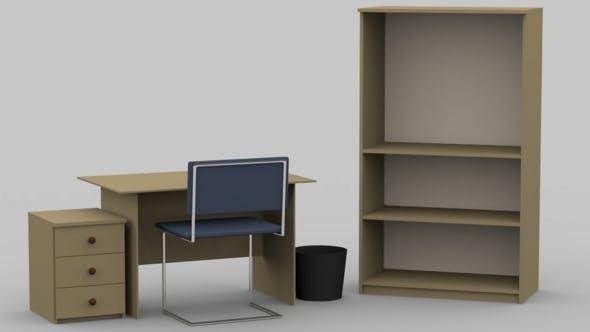 Office scene - 3DOcean Item for Sale