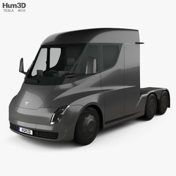 Tesla Semi Day Cab Tractor Truck 2018 - 3DOcean Item for Sale