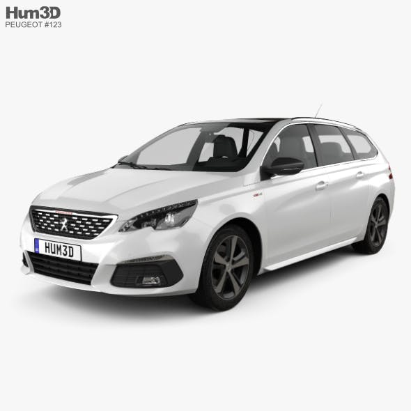 Peugeot 308 SW GT Line 2017 - 3DOcean Item for Sale