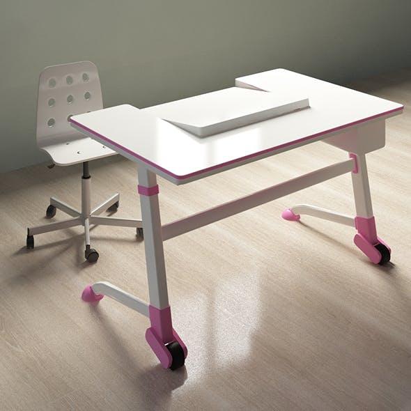 Orthopedic desk for schoolchildren - 3DOcean Item for Sale