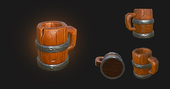 Wooden Beer Mug - 3DOcean Item for Sale