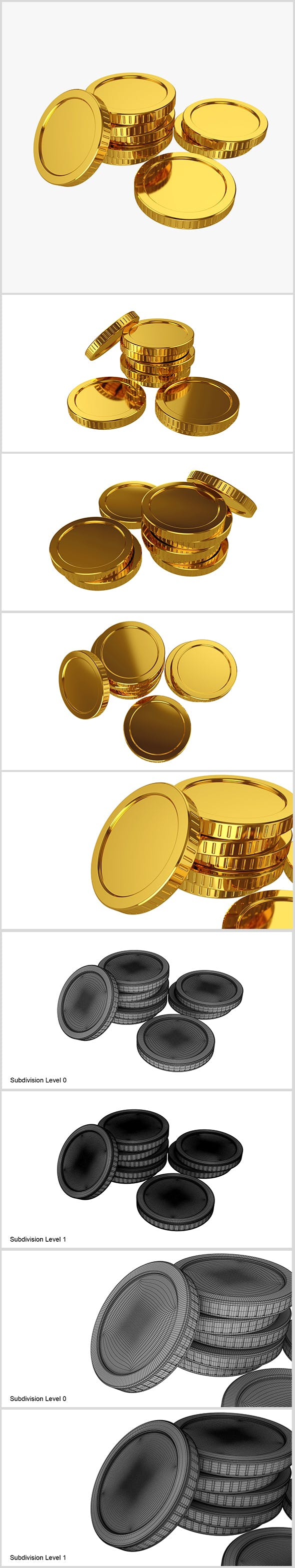 Gold coin - 3DOcean Item for Sale