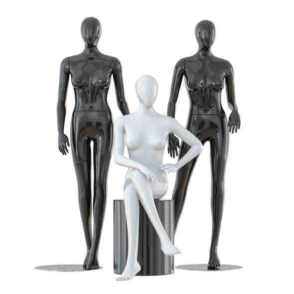Three faceless female mannequins 24 - 3DOcean Item for Sale