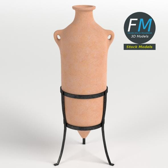 Roman amphora on stand 3 - 3DOcean Item for Sale