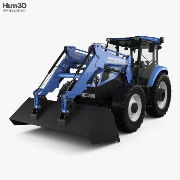 New Holland TD5 Loader Tractor 2017 - 3DOcean Item for Sale