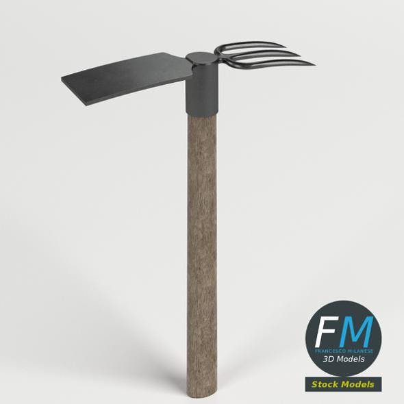 Fork and mattock axe - 3DOcean Item for Sale