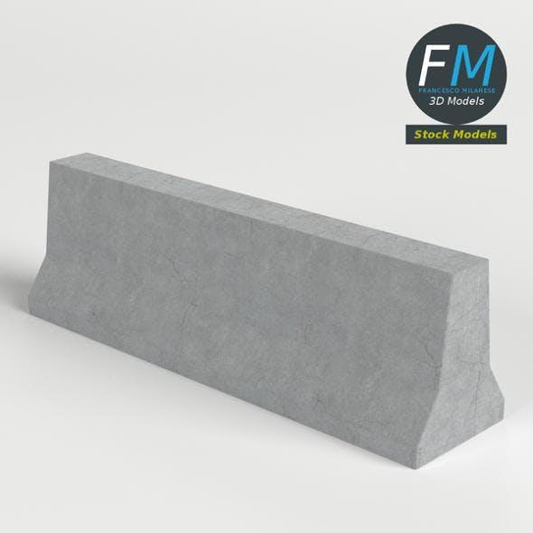 Concrete road barrier - 3DOcean Item for Sale