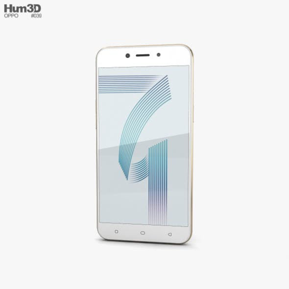 Oppo A71 Gold - 3DOcean Item for Sale