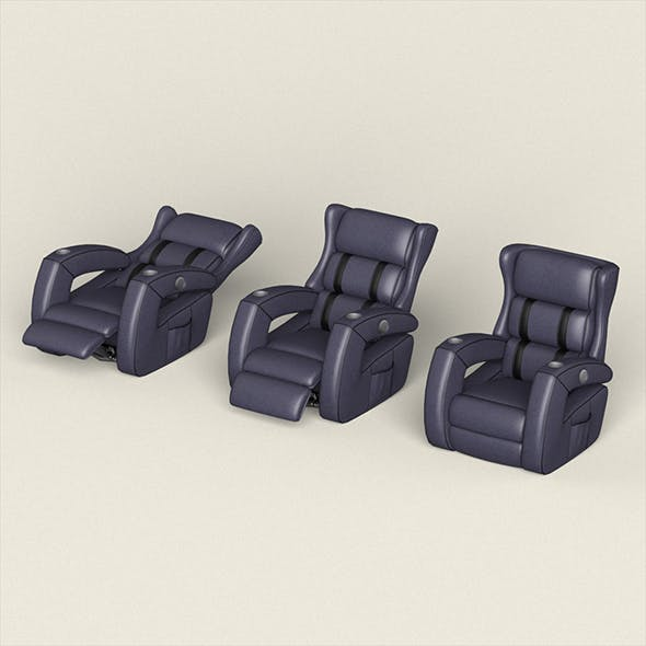 Realistic Recliner Chair Collection - 3DOcean Item for Sale