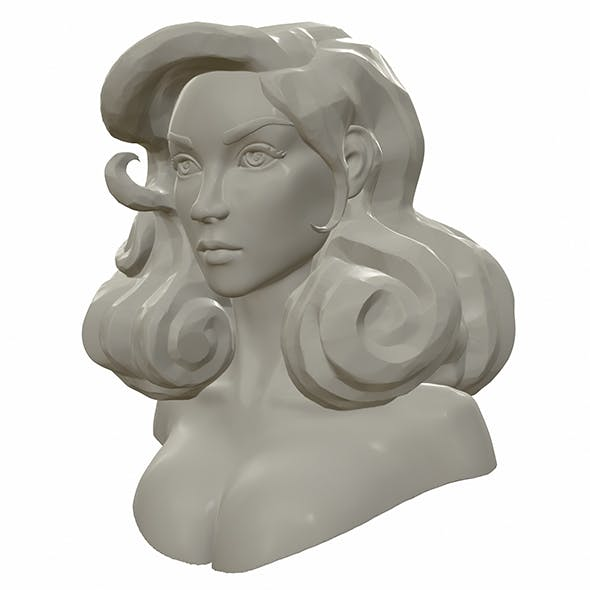 Watertight printable female bust sculpt