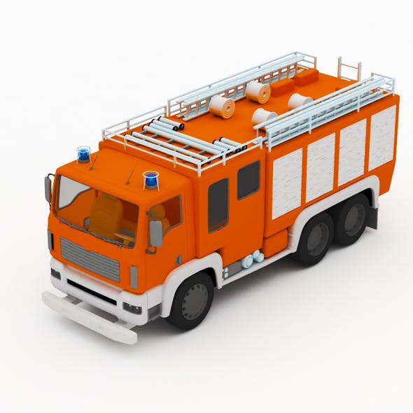 Fire truck - 3DOcean Item for Sale