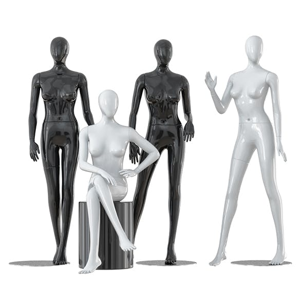 Four faceless female mannequins 25