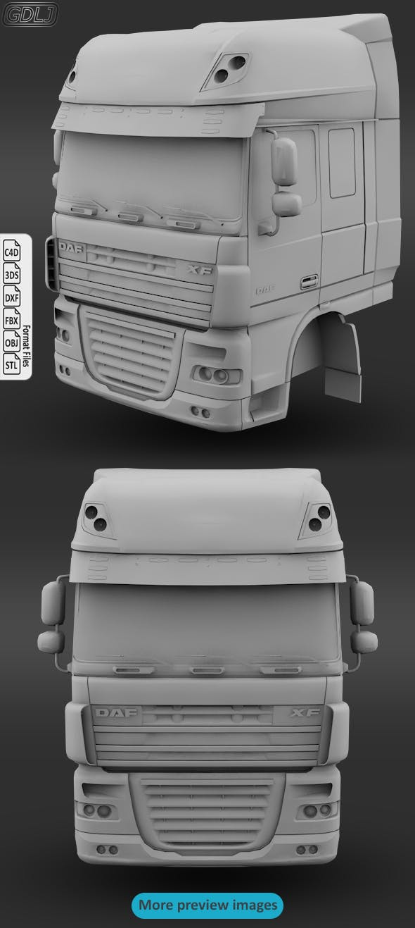 DAF XF 105 3D print model - 3DOcean Item for Sale