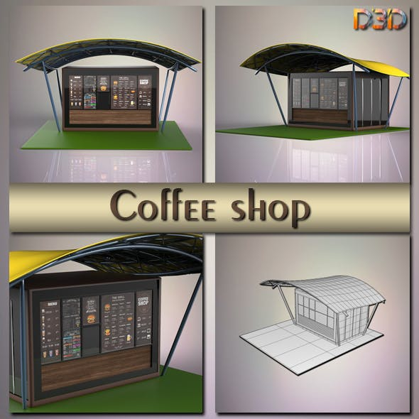 Coffee shop - 3DOcean Item for Sale