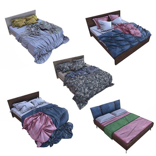 Pbr Beds - 5 Pieces - 3DOcean Item for Sale