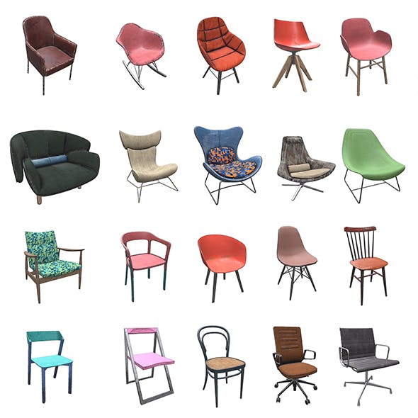 PBR Chairs - 20 Pieces