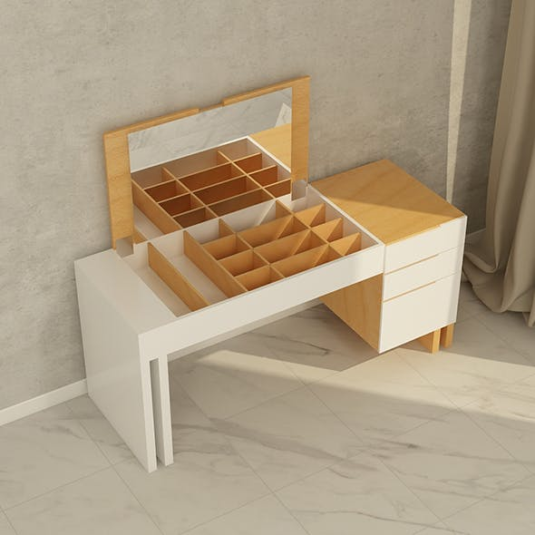 Greta Dressing Table - 3DOcean Item for Sale