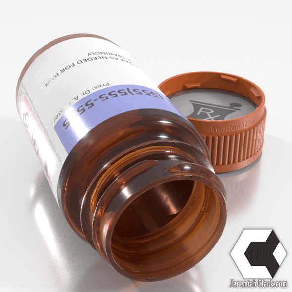 Realistic Prescription Bottle 3D Asset