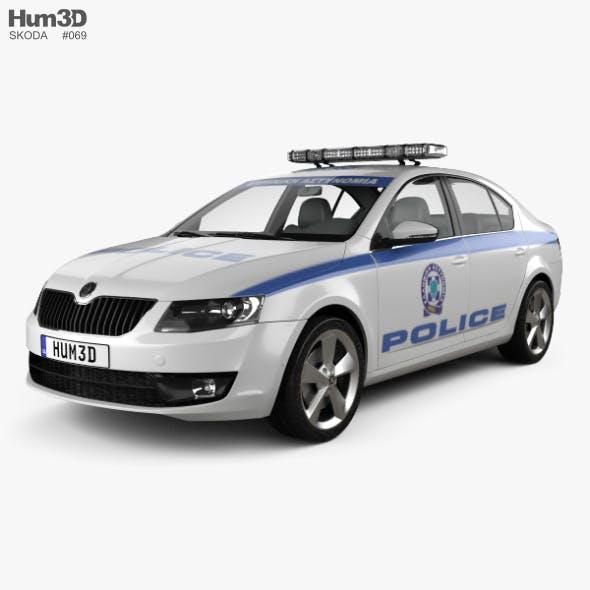 Skoda Octavia Police Greece liftback 2013 - 3DOcean Item for Sale