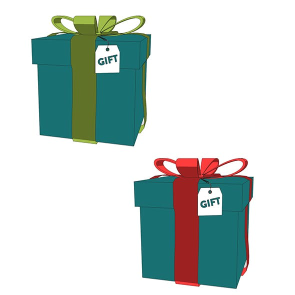 Gift Box - 3DOcean Item for Sale