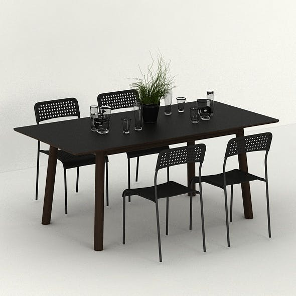 DIVA DINING SET - 3DOcean Item for Sale