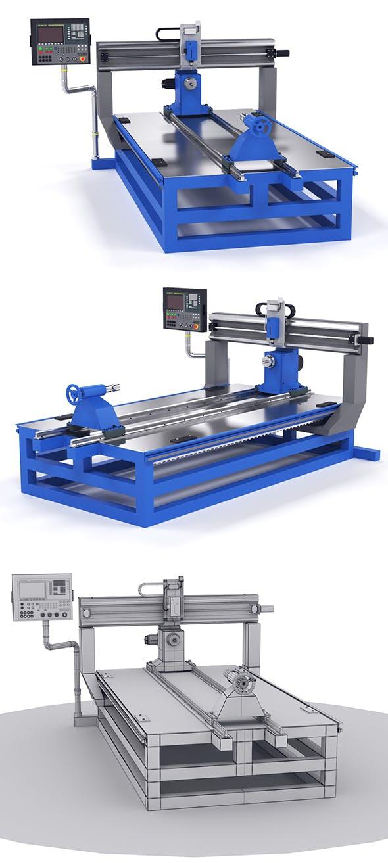 Milling machine cnc - 3DOcean Item for Sale