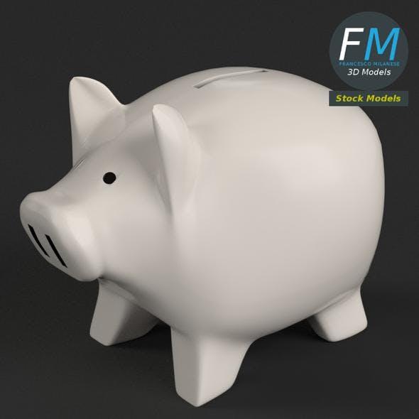 Piggy bank money box - 3DOcean Item for Sale