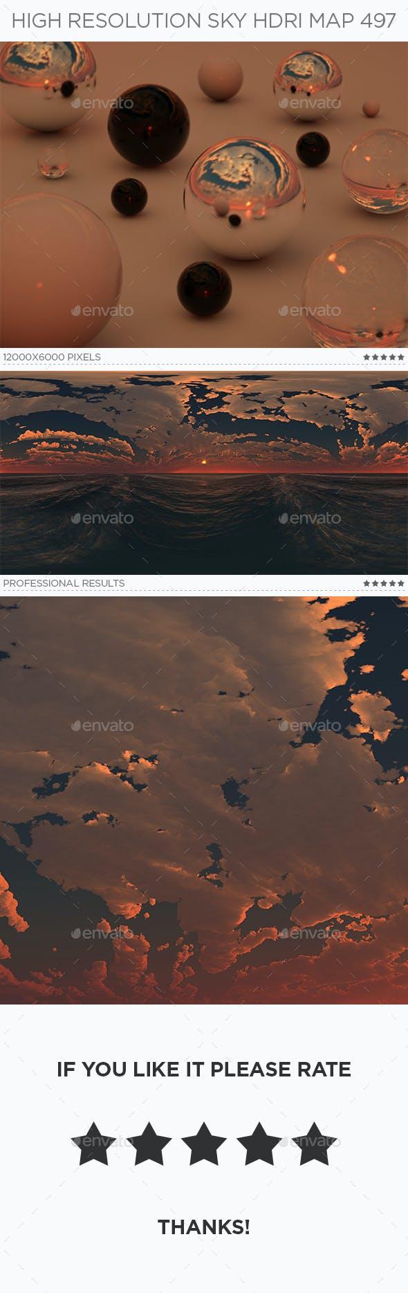 High Resolution Sky HDRi Map 497 - 3DOcean Item for Sale