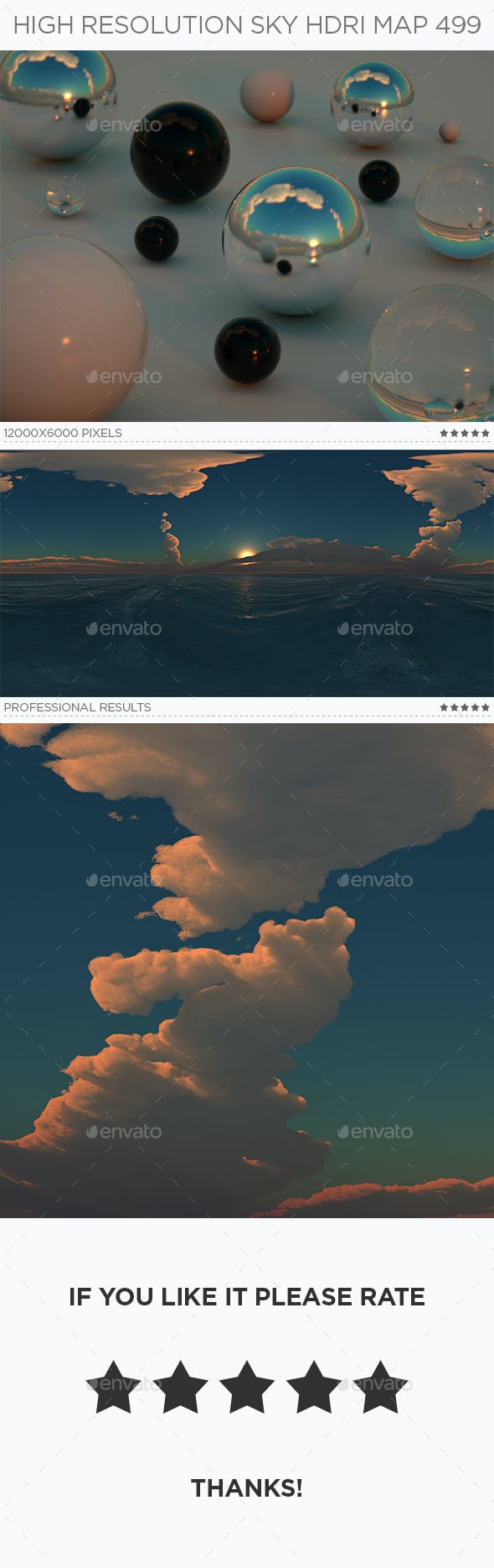 High Resolution Sky HDRi Map 499 - 3DOcean Item for Sale