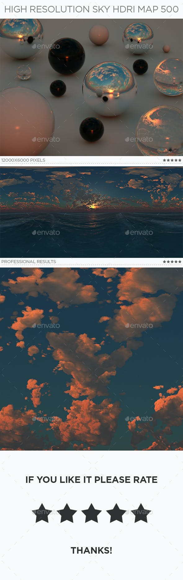 High Resolution Sky HDRi Map 500 - 3DOcean Item for Sale