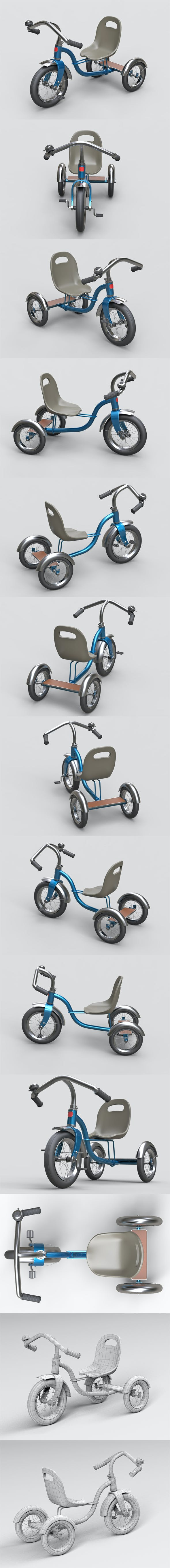 Childrens tricycle - 3DOcean Item for Sale