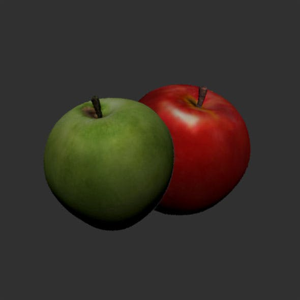 Green&red apples - 3DOcean Item for Sale