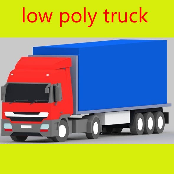 truck low poly - 3DOcean Item for Sale