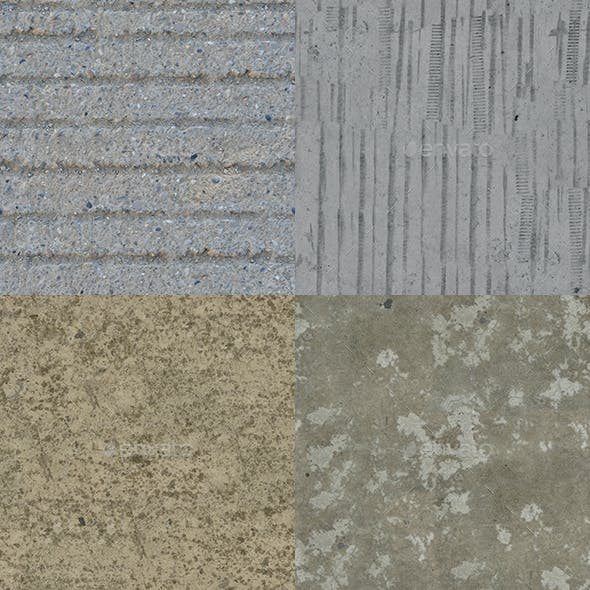 Set of 15 Various Concrete Floor Textures Volume 1