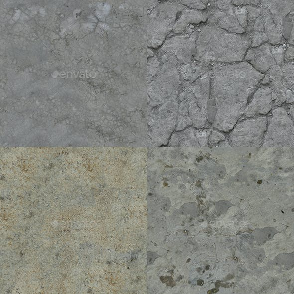 Set of 15 Various Concrete Floor Textures Volume 2